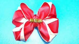 How To Make <b>Two Colors Satin Ribbon</b> Bow - <b>2 Colors</b> Ribbon Bow ...