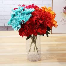 <b>Klonca</b> Gorgeous <b>Silk</b> Flower 45cm 1pc Fake Dahlia Artificial for ...