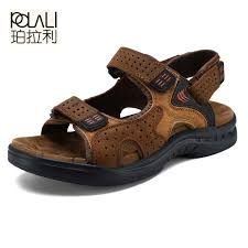 Special Price For male genuine leather fashion <b>sandals</b> list and get ...