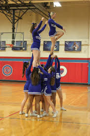photo essay blue devils senior night devil s advocate digital stanton varsity cheerleaders bulding a pyramid 7431