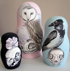 """Birds, Skulls and Flowers """"The <b>Brutal</b> Dance"""" painted wooden ..."""