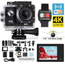 Ultra 4K <b>Full HD 1080P Waterproof</b> Sports Camera Wi-Fi Action ...
