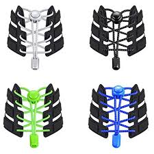 Udaily 4 Pairs No Tie Shoelaces for Kids and Adults ... - Amazon.com