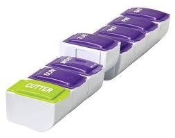 Apex <b>7</b>-<b>Day Plus Cutter</b> Detach N' Go™ Pill Organizer