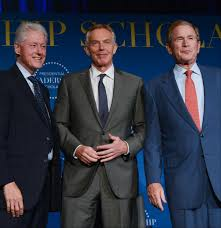 nativism protectionism and isolationism are not the way forward president bill clinton prime minister tony blair and president george w bush at