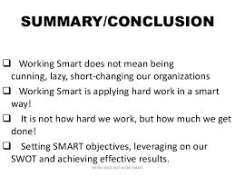 work hard and work smartwork hard and work smart