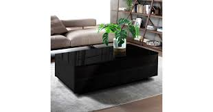 Artiss Modern <b>Coffee Table 4</b> Storage Drawers High Gloss Wooden ...
