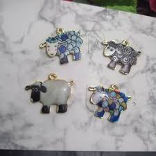 <b>10pcs</b> Fashion Charms Zinc Alloy Enamels <b>Drop Oil Small</b> Sheep ...
