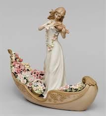 Статуэтка «Девушка со скрипкой в гондоле» <b>CMS</b>-15/51 (Pavone ...