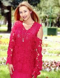 Вязание. <b>Женственный комплект</b>: платье и кофточка из мотивов ...