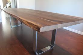 edge dining table custom bench seating