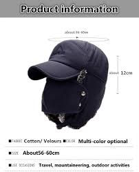<b>SILOQIN Men's</b> Winter Hat Ear Protection Face Bomber Hats With ...