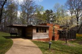 Usonian Style Architecture History and CharacteristicsEntrance to Pope Leighey House  Usonian design by Frank Lloyd Wright in northern