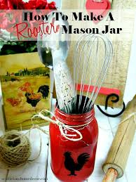 jar crafts home easy diy: how to make a red rooster mason jar easy tutorial fun gift ideas at sewlicioushomedecor