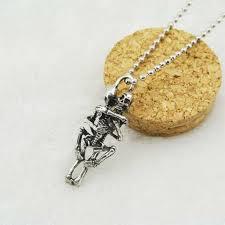 Online Shop 2018 Skull Love Pendant Necklace Men Women ...