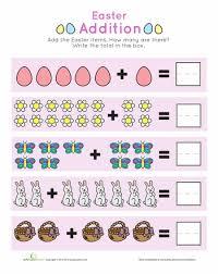 Easter Math: Kindergarten Addition and Subtraction Worksheets ...Easter Addition Practice