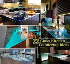 kitchen countertops glass  modern and fashionable glass kitchen countertop suggestions