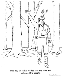 Small Picture Pilgrims and Indians coloring pages to print Bethesda Sunday