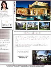 real estate flyer templates pdf format brochure templates  real estate flyer software template
