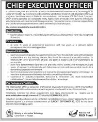 chief executive officer ministry of information technology jobs chief executive officer ministry of information technology jobs