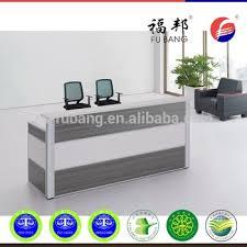 china factory supply office melamine reception deskcounter double layers black oak color black color furniture office counter design