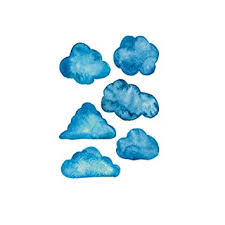 SUNNSEAN <b>Simple Nordic</b> wall sticker Watercolor <b>Clouds</b> Dormitory ...
