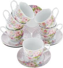 """<b>Чайный</b> сервиз <b>Loraine</b> """"Цветы"""", <b>220</b> мл, 12 предметов. 25910 ..."""