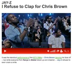 Good Guy Jay-Z refuses to clap for Chris Brown - PandaWhale via Relatably.com