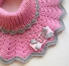 Манишка для новорожденного схема вязания