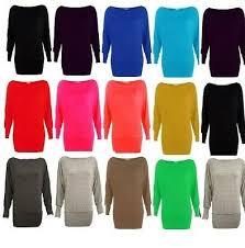 <b>New womens off shoulder</b> long sleeve ladies plain stretch top dress ...