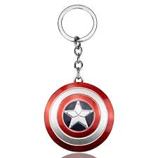 SmallAll Marvels <b>Captain</b> America Red And Silver <b>Keychain</b> ...