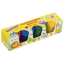 """<b>Краски пальчиковые ЮНЛАНДИЯ</b> """"САФАРИ"""", 4 цвета по 35 мл, в ..."""