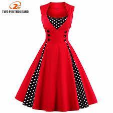 <b>S 5XL</b> Women <b>Robe</b> Pin Up <b>Dress</b> Retro 2018 Vintage 50s 60s ...