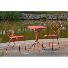 crossman piece outdoor bistro: mainstays  piece small space scroll outdoor bistro set red seats