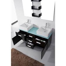55 inch double sink bathroom vanity:  virtu maybell double sink bathroom vanity