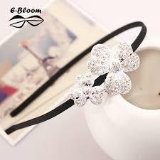 <b>Korean Shining</b> Rhinestone Headband Alloy Flower Fawn Frame ...