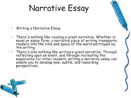 how to write a narrative essay good narrative essay examples example of narrative essay lecture 6 how to write a narrative essay example