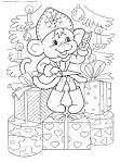 Раскраска новогодней обезьянки распечатать