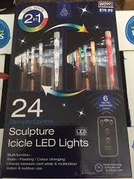 <b>Remote Control</b> LED <b>Icicle</b> Lights in DE14 Staffordshire für 10,00 ...