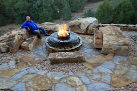 stone patio installation: peterson residence homeowner gary peterson designed and installed this backyard retreat