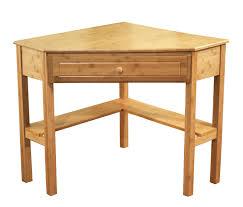 amazon com tms bamboo corner desk natural finish kitchen dining bush office furniture amazon
