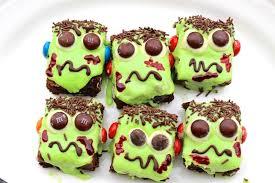 <b>Frankenstein</b> Brownies for Halloween - <b>Hot</b> Chocolate Hits