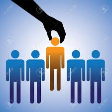 concept illustration of hiring the best candidate the graphic concept illustration of hiring the best candidate the graphic shows company making a choice of the