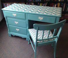 desk chair chevron painted vintage painted furniture chevron painted furniture