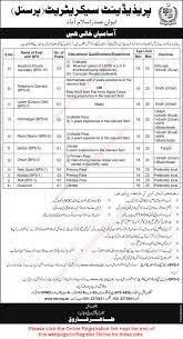 president s secretariat islamabad jobs 2016 ots online president s secretariat islamabad jobs 2016 ots online registration form latest advertisement
