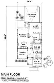 Two story houses  House plans and Search on PinterestFirst Floor Plan of Craftsman Narrow Lot House Plan