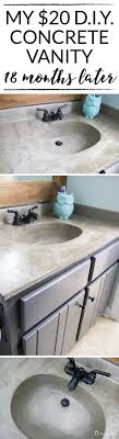 bathroom countertop basins wholesale: learn how our diy concrete vanity is holding up  months after completion diy remis bathroomconcrete sink