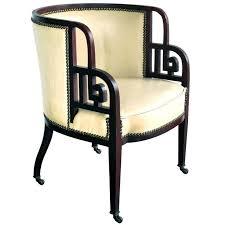 rare austrian early art deco mahogany barrel back chair josef hoffmann from a art deco mahogany framed office chair