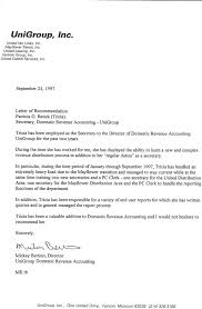 letter of recommendation business recommendation letter  reference