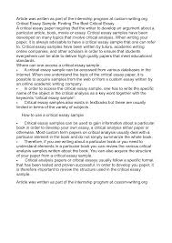 cover letter critical analysis essay examples critical analysis cover letter critical analysis essay samples critical examplecritical analysis essay examples extra medium size